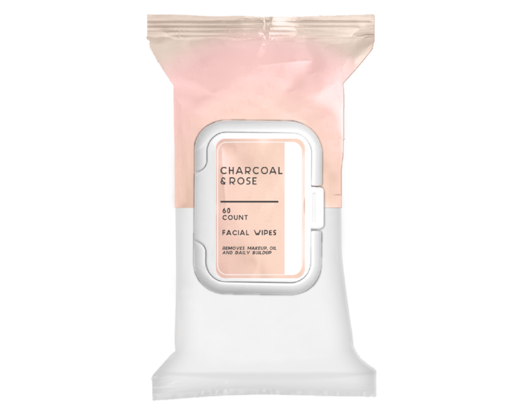 FACIAL WIPES - CHARCOAL ROSE