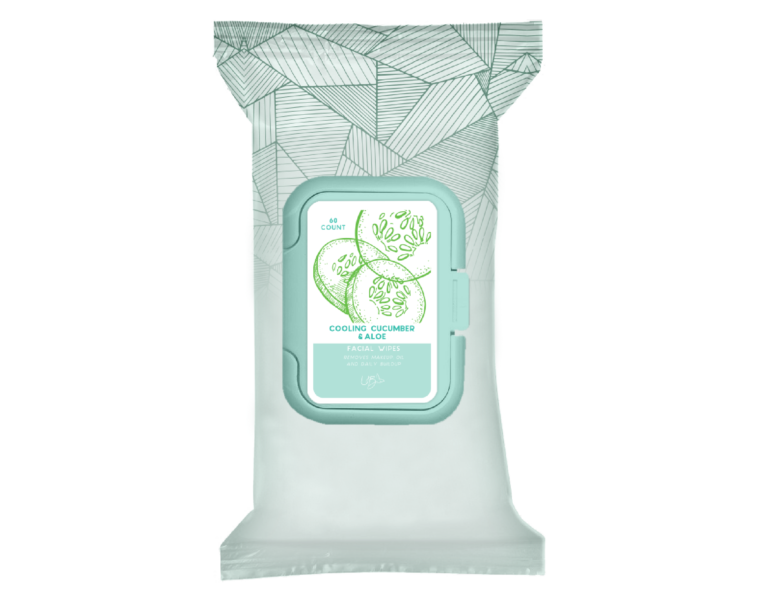 Facial Wipes- cooling cucumber & Aloe