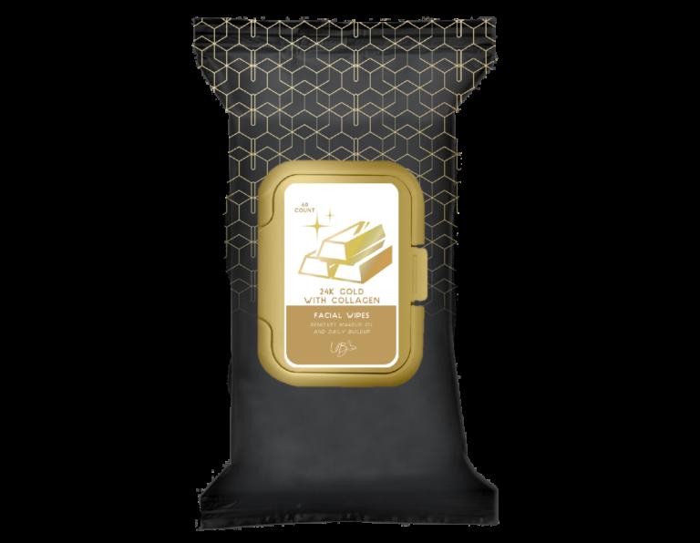 facial wipes- 24k gold
