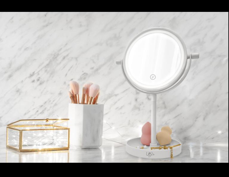Table top led vanity mirror